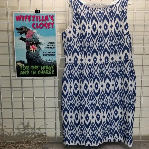 Nine & Co. Dresses & Skirts - Nine & Co. blue and white sleeveless Size 16 dress